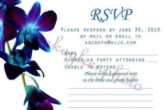 Blue Orchid Wedding Invitations: 22 Best Blue Orchids Wedding Images On Pinterest