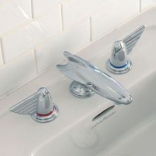 dirigible faucet with aviator wing handles!   1950 Belle Aire | Product ranges | Lefroy Brooks (North America)