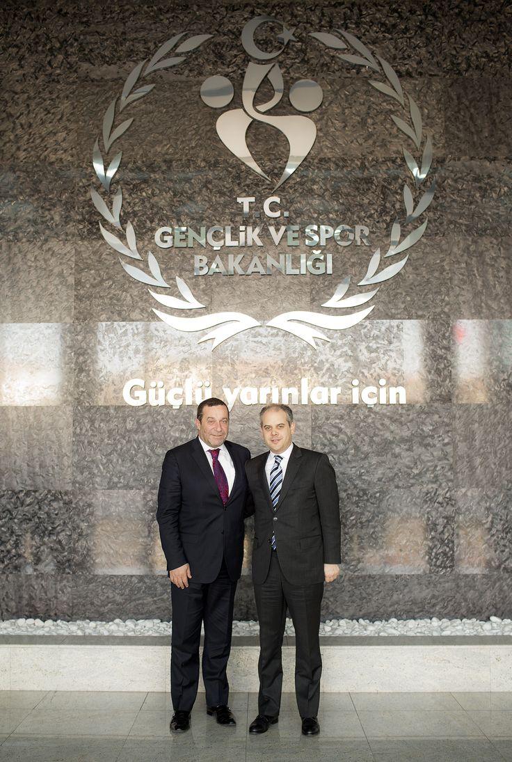 KKTC Başbakan Yardımcısı, Ekonomi, Turizm, Kültür ve Spor Bakanı Serdar Denktaş ve Beraberindeki Heyeti ağırladık.