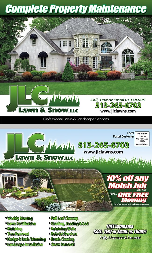 Lawn Care Landscaping Eddm Postcard Lawn And Landscape Lawn Care Landscape Services