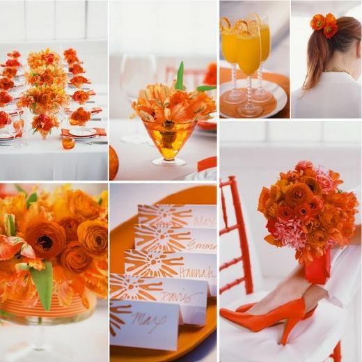 oranje tafel #kleurinspiratie