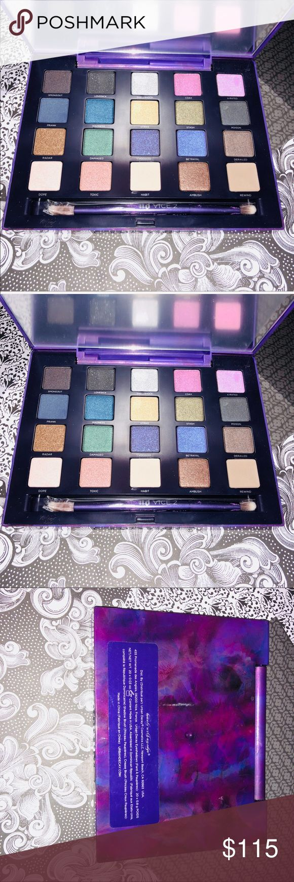 NWT URBAN DECAY VICE 2 PALETTE- rare collectors Pc NWT URBAN DECAY VICE 2 PALETTE- rare collectors Pc. This is never used or swatched, brand spankin new! I am collecting every UD palette ever made and happened to collect an extra one of these, very hard to find and even harder to find new. Great product and a must have for urban decay lovers alike. Feel free to ask questions, thanks! XoXo LNJ Cosmetics Urban Decay Makeup Eyeshadow