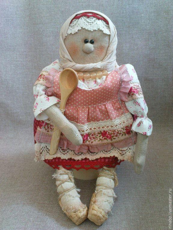 Купить Кукла Феодора - хранительница кухни - розовый, сувенир в русском стиле, подарок иностранцу