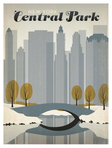 central park art print...perfect for Wendell's mid century modern man cave