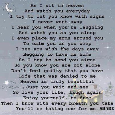 As I sit in Heaven...