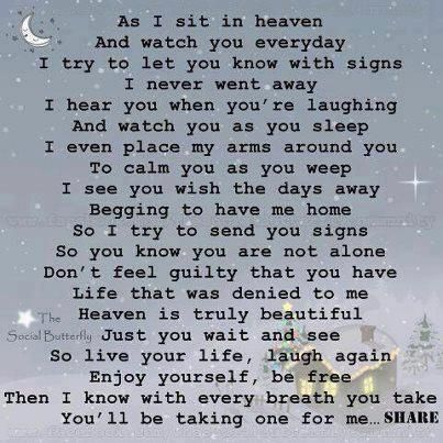 ♥ GRIEF SHARE: Plantation United Methodist Church, 1001 NW 70 Avenue, Plantation, FL 33313. (954) 584-7500. ♥ As I sit in Heaven...