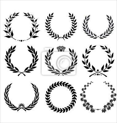 Adesivo conjunto de coroas de louros - successful • br.br.pixersize.com
