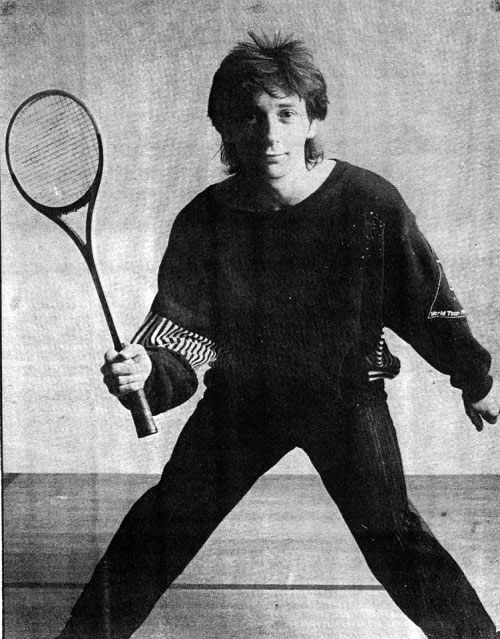 Johnny Thunders Playing Squash 1984