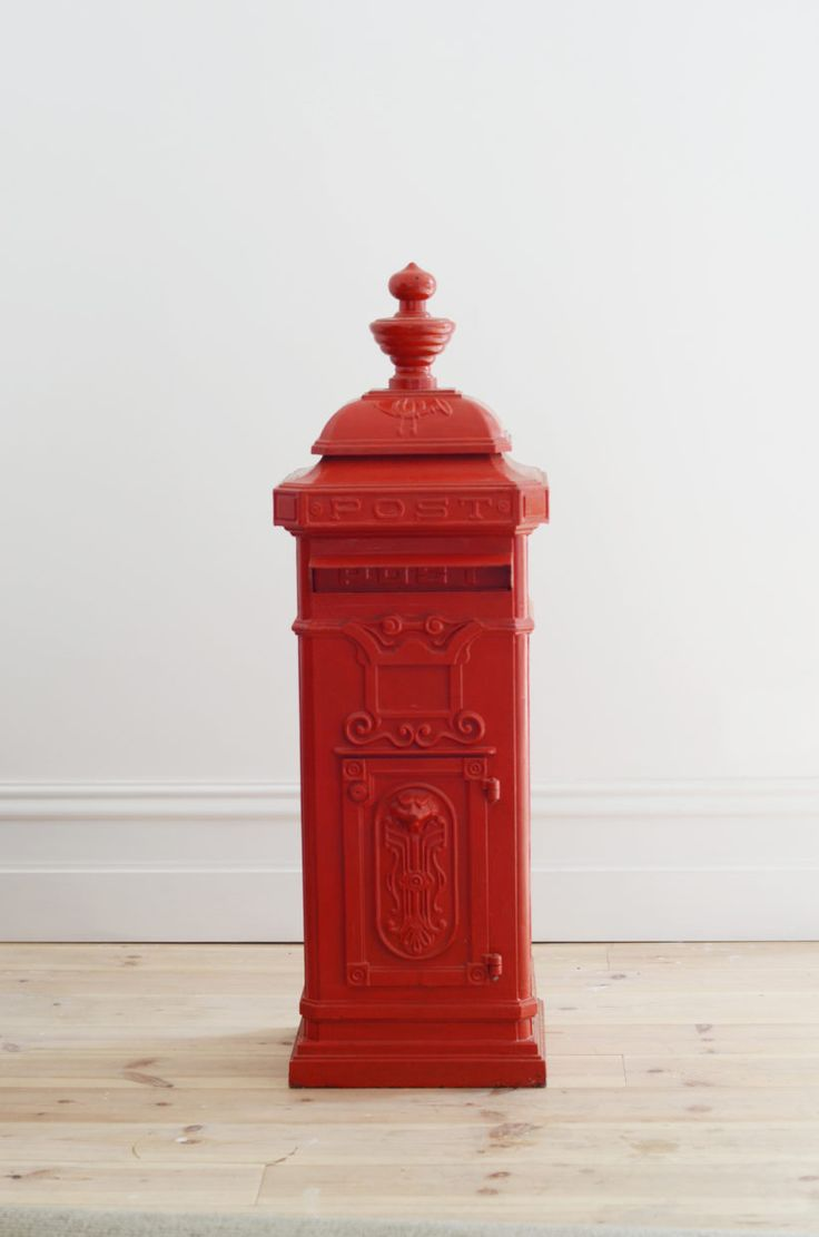 Lily and Bramwell | Event hire Adelaide, South Australia   Vintage red post box  Looking for a unique wishing well? Our vintage red post box/letter box comes with a key lock to keep the contents secure.
