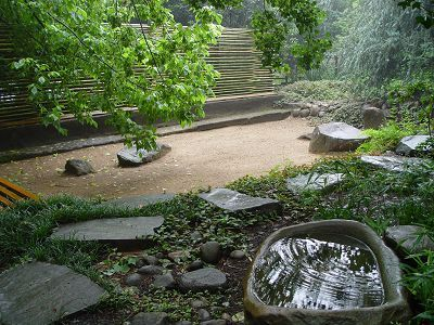 The Zen raked sand garden is a place for quiet meditation © Ixopo Buddhist Retreat Centre