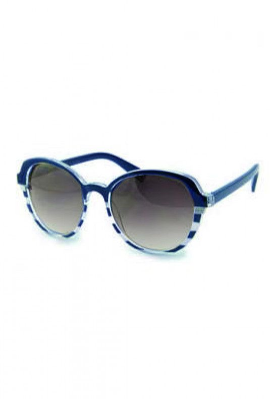 076a9a5748 Sunglasses - Day at Sea Nautical Striped Navy Blue Sunglasses in ...