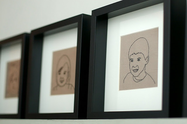 Make your own embroidered portraits of family and friends