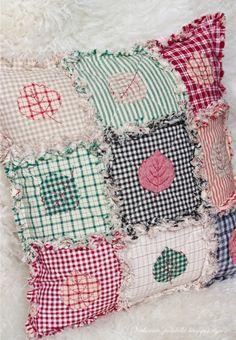 Потрепанный квилт / Rag quilt - Вечерние посиделки  adorable, simple pillow