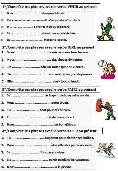 verbes du premier groupe exercices - Αναζήτηση Google