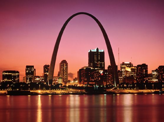 St. Louis, Missouri; beautiful city, but I was afraid of being mugged the whole time. - had a perfect view of the arch from our hotel!