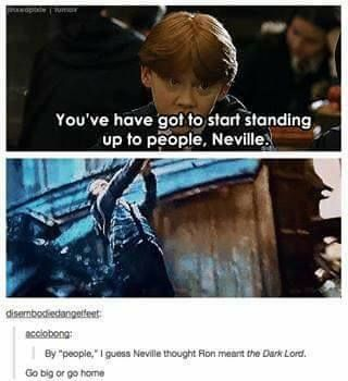 """""""Go big or go home"""" was never a phrase I thought would be related to Neville."""