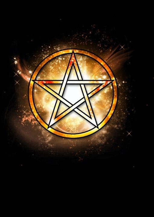 Orange Pentacle Pentacles Wicca Wiccan Wiccan Witch