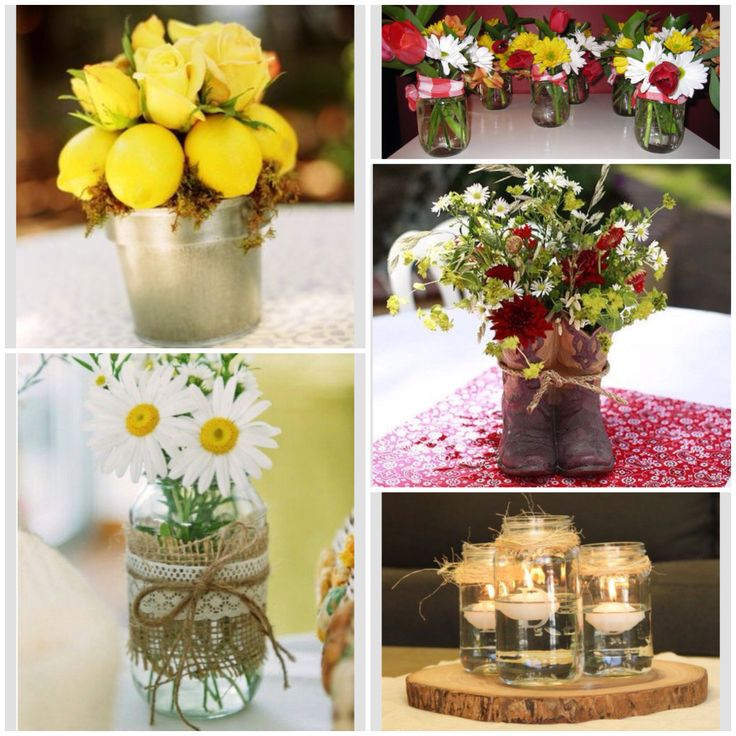 Country Western Centerpieces Hosting Lunch Ideas