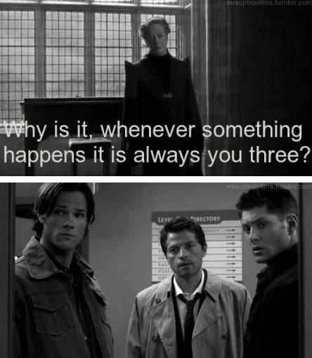 """Harry Potter / Supernatural - """"Pourquoi, à chaque fois qu'il se passe quelque…"""
