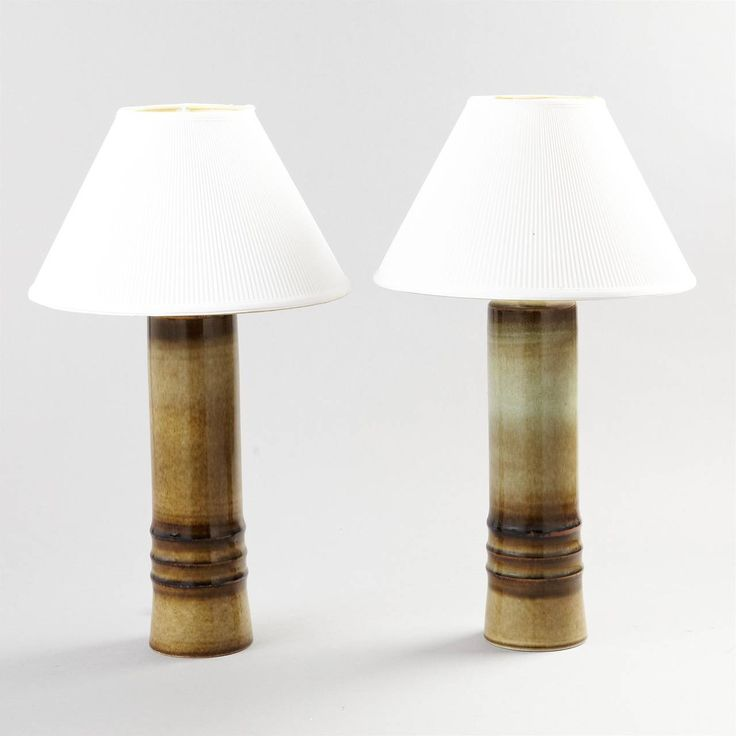 Pair Of Large Table Lamps By Olle Alberius | From A Unique Collection Of  Antique And