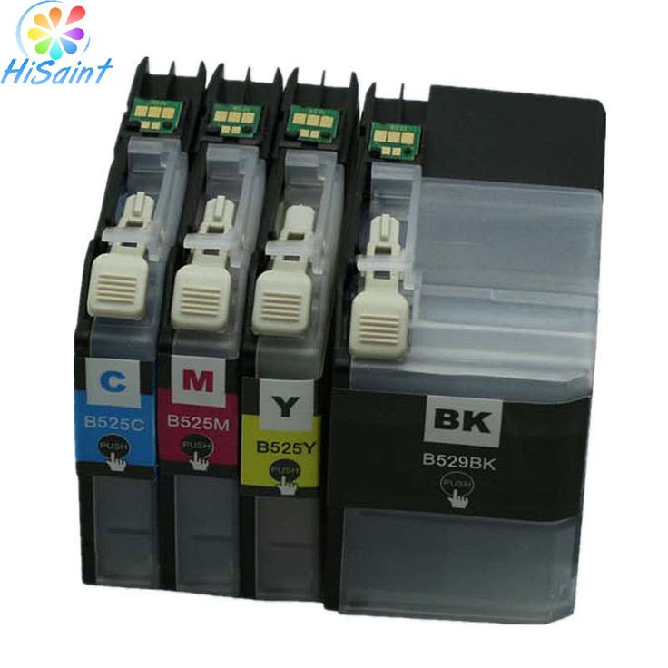free shipping 8PCS 2 SET LC529XL LC525XL LC529 LC525 compatible inkjet Ink cartridges for Brother DCP-J100 /DCP-J105 printer