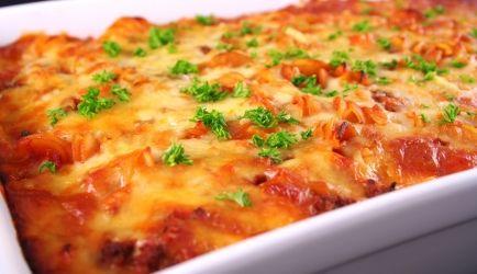 Pasta Con Carne Di Maiale E Peperoni Dal Forno recept | Smulweb.nl