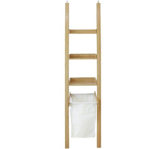 Buy Collection Large Bamboo Ladder Shelf with Laundry Bag at Argos.co.uk, visit Argos.co.uk to shop online for Bathroom shelves and storage units, Bathroom furniture, Home and garden
