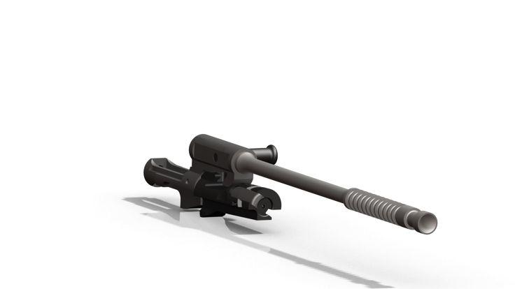 STG-44 Bolt carrier Assembly - SOLIDWORKS,STL,Pro/Engineer Wildfire - 3D CAD model - GrabCAD