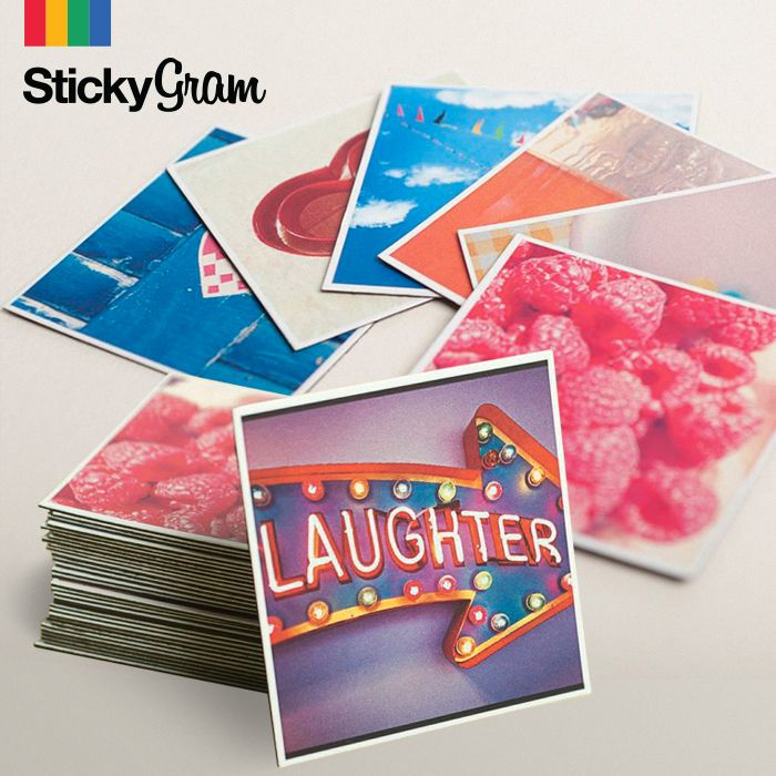Stickygrams! This website makes your Instagrams real; create a pack of magnets in seconds. $4 off with exclusive code: STICKYPIN / great for the holidays!