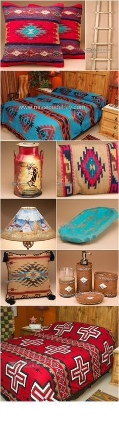 If you like southwest home decor, you will love what Mission Del Rey has to offer.  Find an incredible selection of southwest pillows, western bedding, southwestern lampshades, primitive wooden bowls, Native American handcrafts and much more!  With over 5,000 items in stock and ready to ship, we carry everything you need to decorate your southwest style home.  Visit us at http://www.missiondelrey.com/ and sign up for our newsletter to receive exclusive discounts!