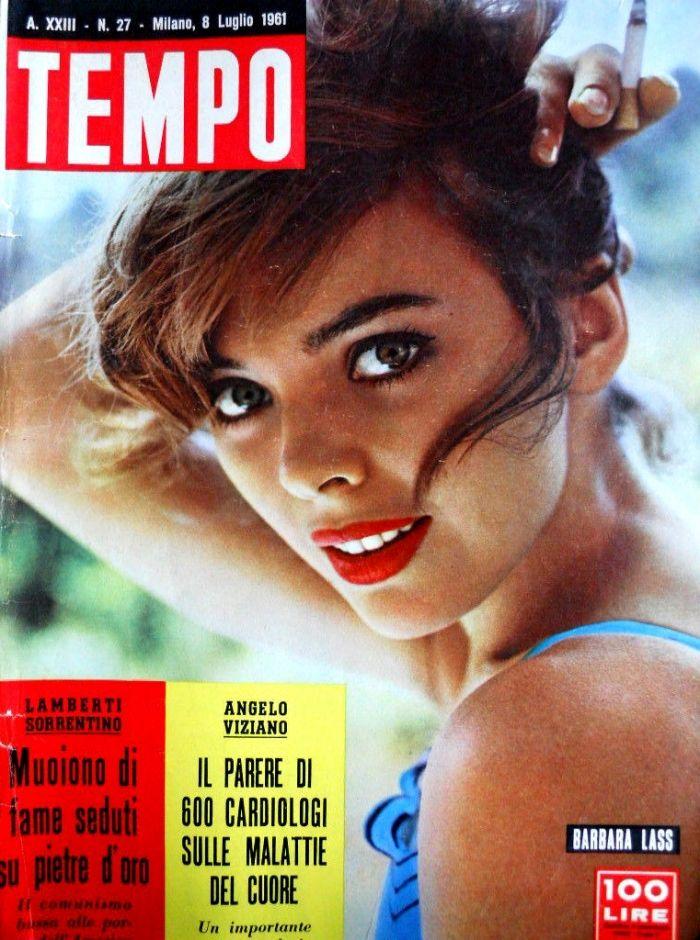 """Polish movie star Barbara Lass (or Barbara Kwiatkowska) (8th July 1961). From 1959 to 1962, Barbara Lass was married to Polish director, naturalized French, Roman Polanski."