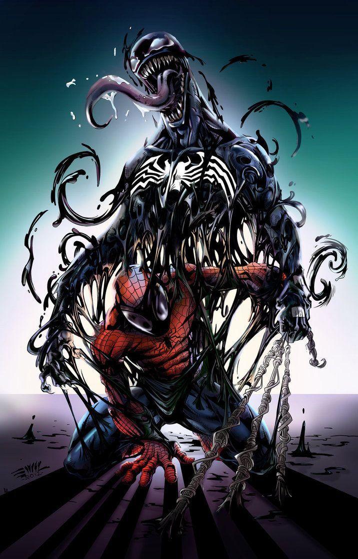 Spiderman and Venon