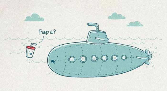 Подводная лодка смешные картинки, день