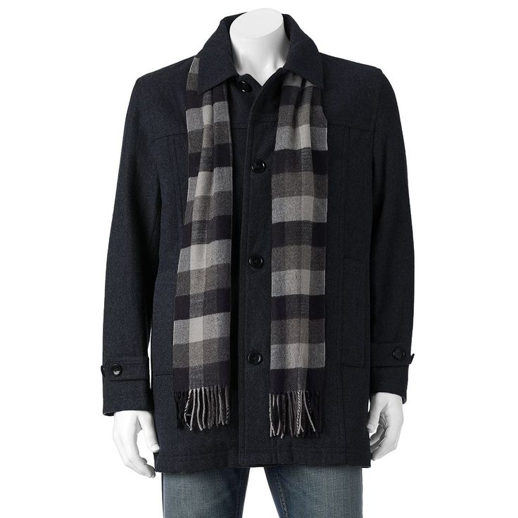 Men's Towne Wool-Blend Top Coat, Size: Medium, Turquoise/Blue (Turq/Aqua)
