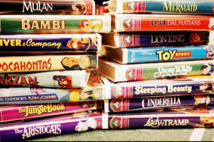 VHS Disney Movies 90's kid My childhood in the 90s was