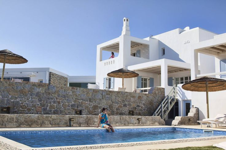 Naxos 3 luxury seafront holiday villa rental with private pool in Naxos, Greece