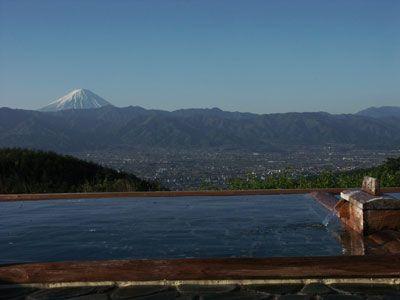 星空が天井☆ほったらかし温泉    富士山見ながら…ふぅ〜!(((o(*゚▽゚*)o)))