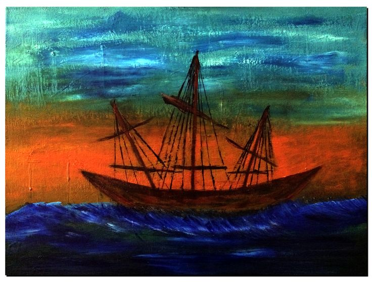 Ship #1, Acrylic on Canvas #painting #acrylicpainting #visualarts #art