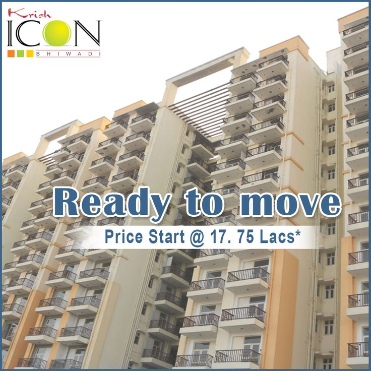 #SpecialOffersForYou - Krish Icon in Bhiwadi with 1/2/3 BHK luxury apartments with Floor sizes from 555-1210 Sq.ft having all modern amenities and starts @17.75 Lacs* Call us : - 956.071.444.6