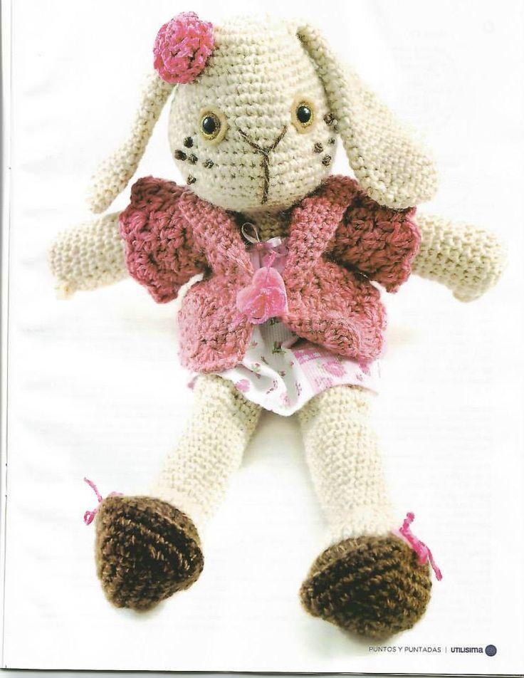 85 best CONEJOS (amigurumis) images on Pinterest | Crochet toys ...