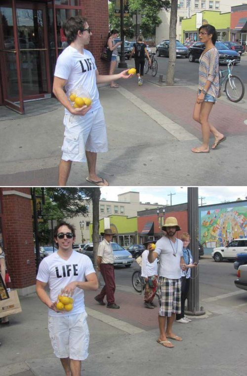 when life hands you lemons... i dont know why i think this is funny...