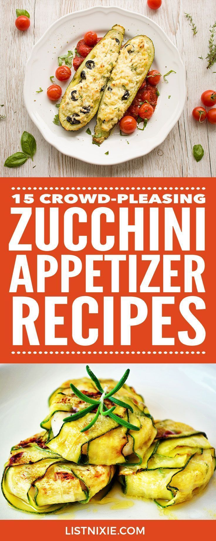 15 tasty zucchini recipes to help you enjoy the harvest - If you have more zucchini than you know what to do with, these crowd-pleasing zucchini appetizer recipes will help you use up your summer bounty. From quick and easy to fancy, they're all delicious
