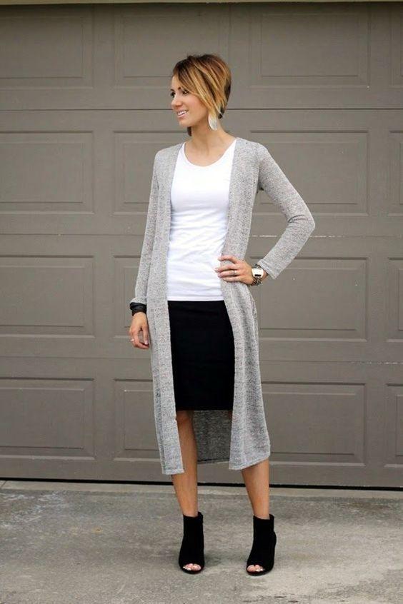 outfit faldas pegadas