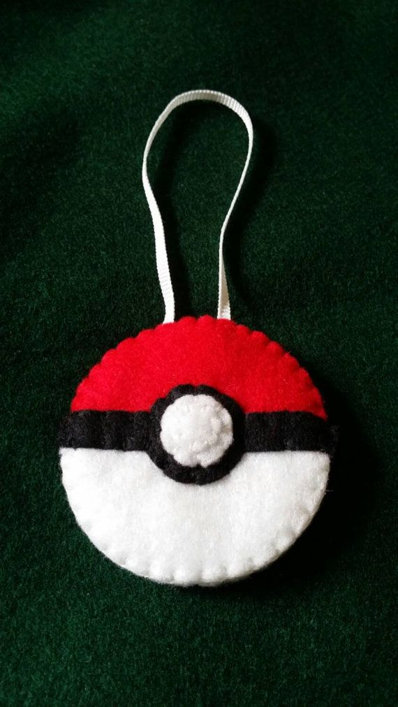 Pokémon Felt pokeball christmas decoration by JBLiving on Etsy