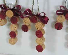 Homemade Wine Cork Christmas Ornaments | Cork ornaments