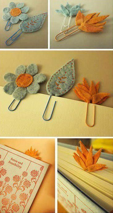 lovely and easy to make bookmarks