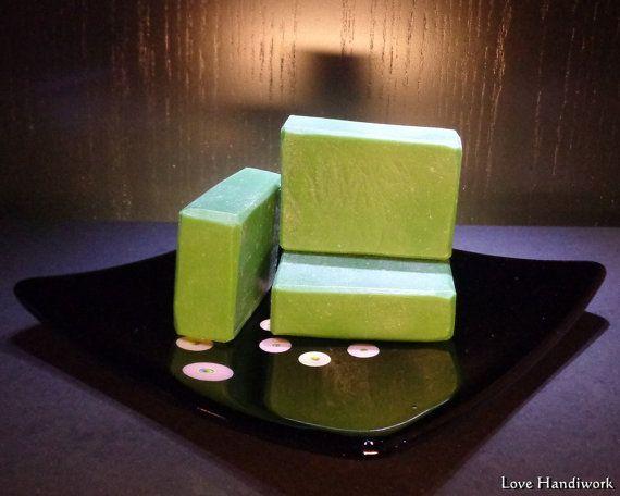 Rustic Cut Peppermint Bar Soap  Handmade by LoveHandyWork on Etsy