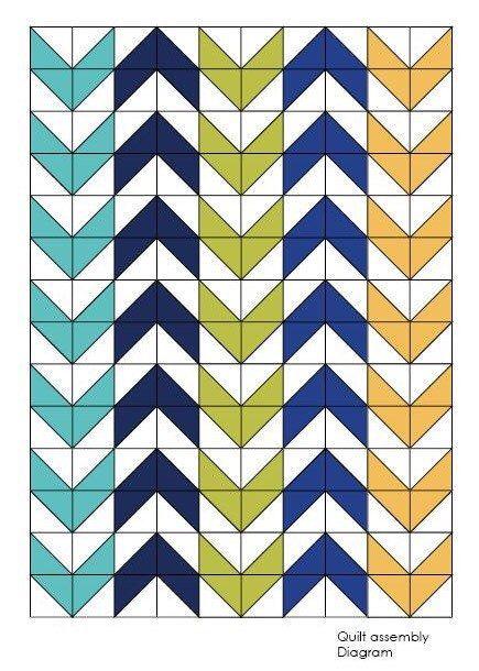 Arrow Quilt,Twin Quilt Pattern, Digital Quilt Pattern, Easy Beginner Pattern, modern Quilt,PDF quilt pattern, Sewing Pattern,Triangle Quilt,