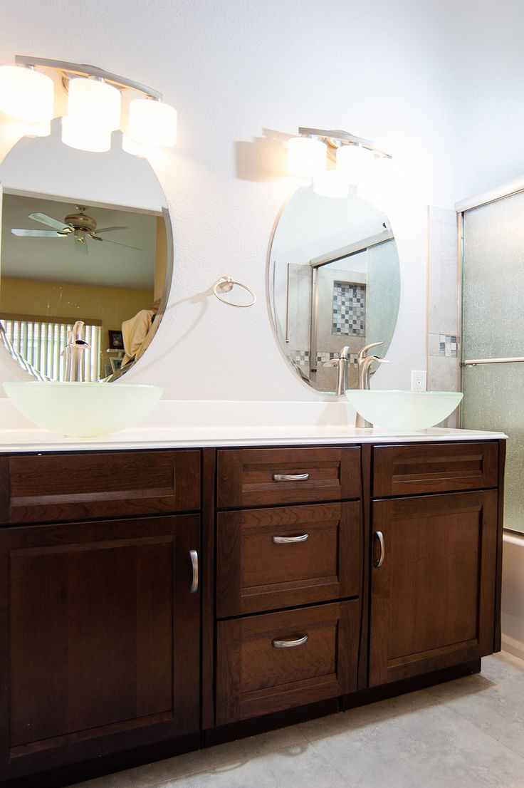 Gallery One This bathroom remodel looks great with these vessel sinks choosechi