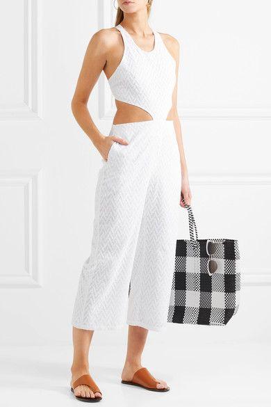 Flagpole - Heidi Cutout Embroidered Voile Jumpsuit - White - medium